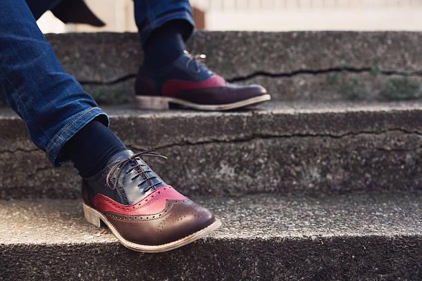 Kleurrijke heren schoenen
