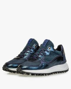 Dames blauwe sneaker Floris van Bommel